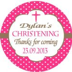 Personalised Girl Christening Sticker Design 7